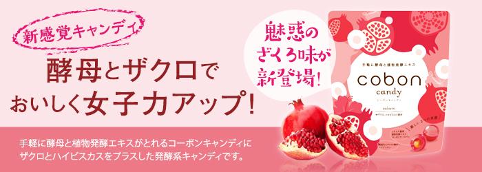新感覚キャンディ 酵母とザクロでおいしく女子力アップ!